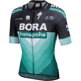 Sportful Team Bora-HG Bodyfit Pro Light Fietsshirt korte mouwen Heren groen/zwart